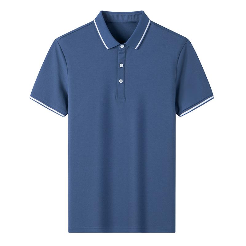 鸭鸭2021新款夏季短袖t恤男翻领商务休闲时尚男士polo衫高端上衣