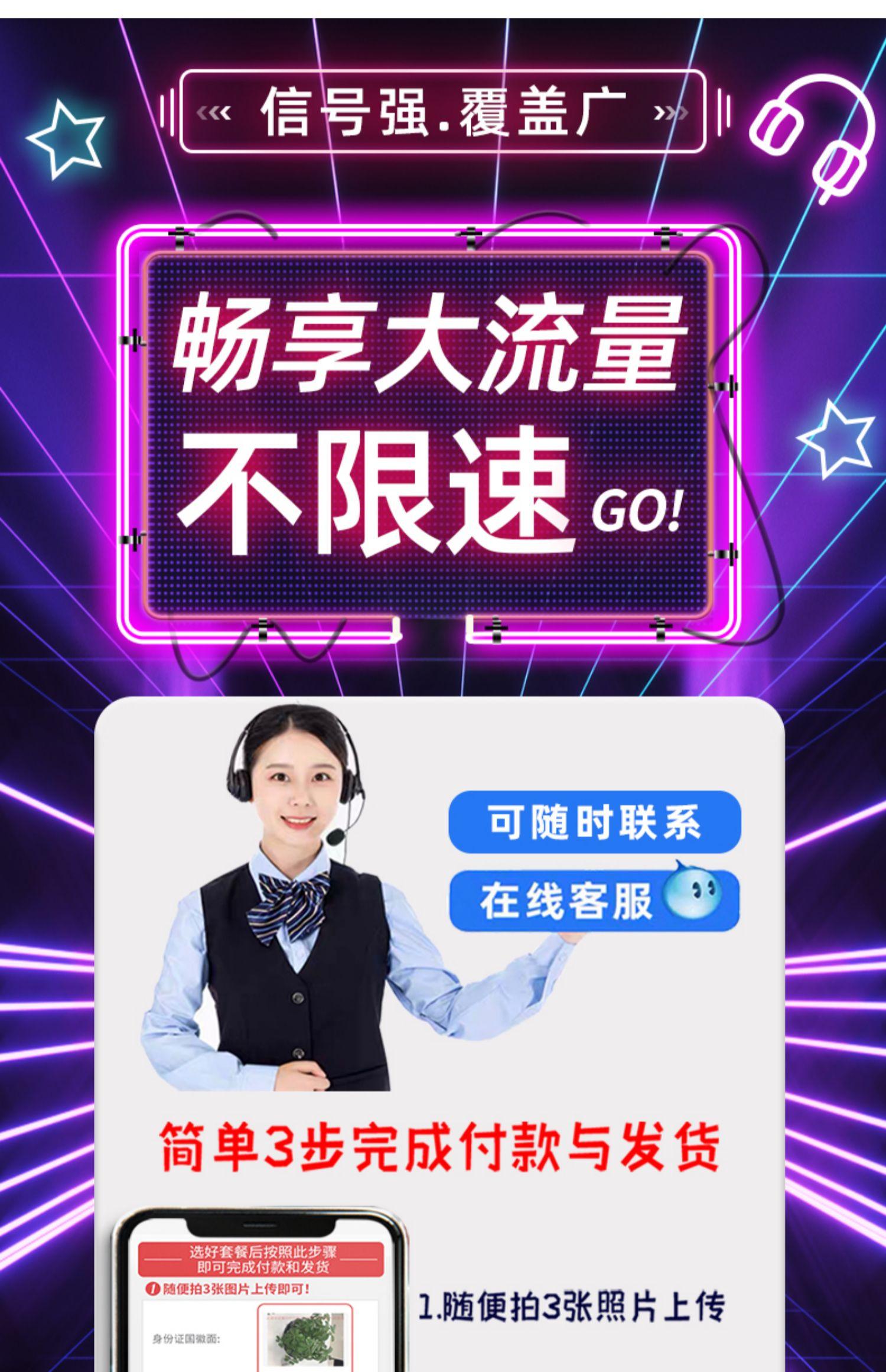 【移动流量卡】纯流量上网手机电话大王5g号1