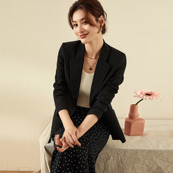 2020 Spring suit jacket female long section of the new career yards Slim was thin casual suits one button