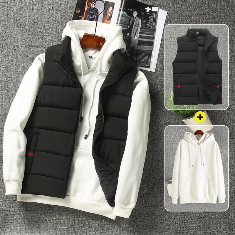 男士马甲秋冬季韩版潮流羽绒棉迷彩马夹帅气加厚保暖背心坎肩外套