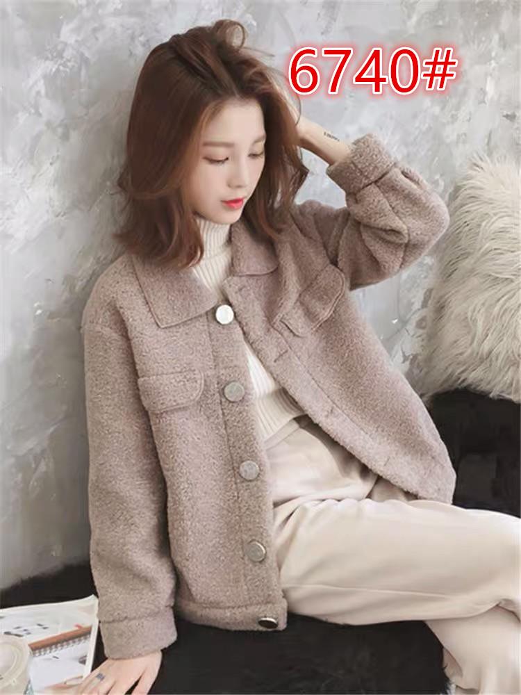 2019冬季新款韓版單排扣小個子短款仿羊羔毛外套女學生寬松上衣