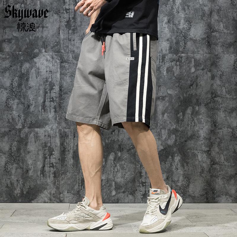 惊浪夏季胖子运动裤子男宽松加肥加大码短裤跑步健身休闲五分裤潮