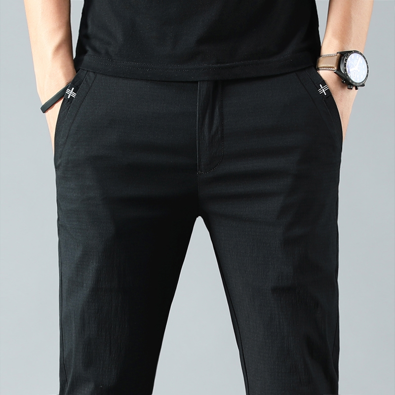 Bộ đồ, bộ vest, quần mùa hè, quần nam, quần công sở, mùa hè mỏng, quần âu, áo rộng, thẳng, phiên bản Hàn Quốc theo xu hướng, hoang dã - Suit phù hợp