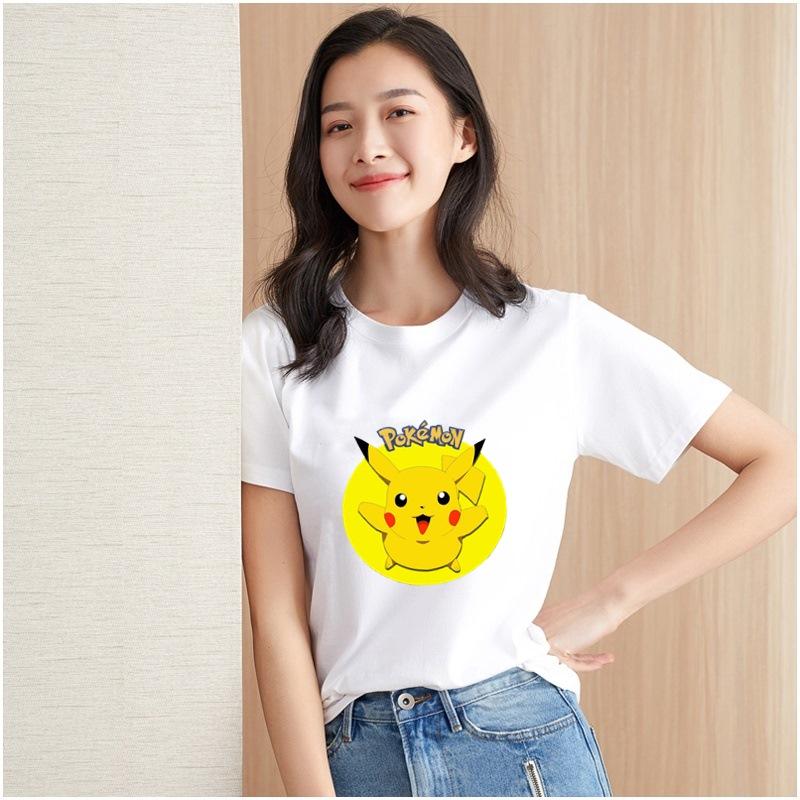 春夏新款韩版白色t恤宽松大码短袖女装印花字母纯棉T恤10