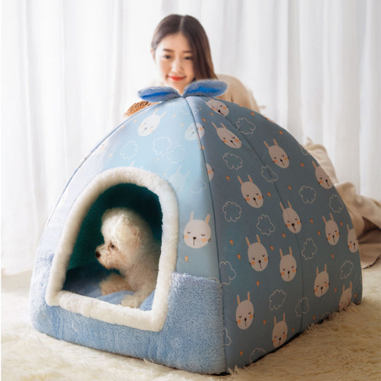 Cat litter winter warm all seasons universal semi-enclosed cat villa cat house removable and washable kennel pet supplies