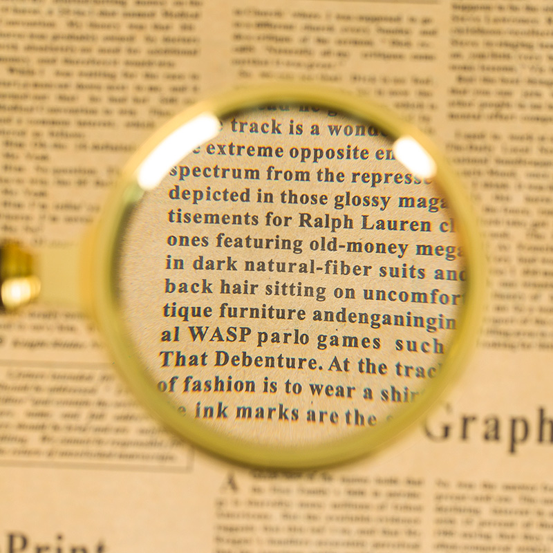 20 high-definition jewelry identification handheld magnifying glass 90MM  clear elderly students read reading newspaper reading 10 times 80MM