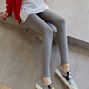 Plus velvet leggings women thickening wear thin section 2018 new autumn and winter nine points autumn pants women wearing trousers gray