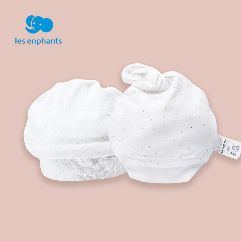 丽婴房童装 2018春款新生儿帽子婴儿宝宝纯棉波点胎帽01B1102803