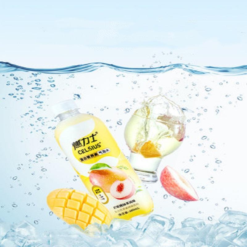 【芒果桃绿茶风味】燃力士气泡水无糖零卡零脂肪0卡饮料480ml*6瓶