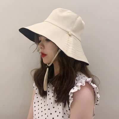Hat autumn and winter female covering her face Japanese Korean UV sunscreen large brimmed sun hat child hat tide big wild