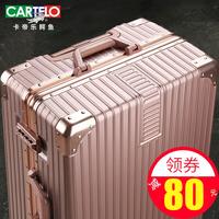 Картье чемодан крокодил мужские и женские Универсальный руль 24-дюймовый кожаный чемоданчик для паролей