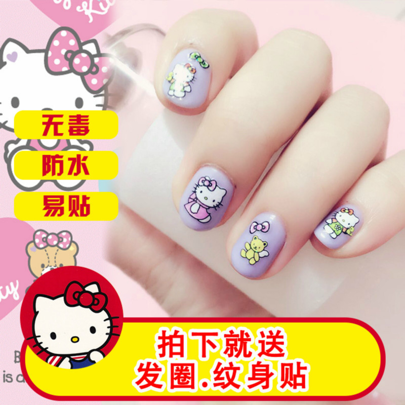 USD 8.85] Every day special kids nail stickers Korea girl waterproof ...