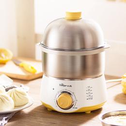 小熊煮蛋器蒸蛋器定时自动断电家用小型1人不锈钢鸡蛋早餐机神器
