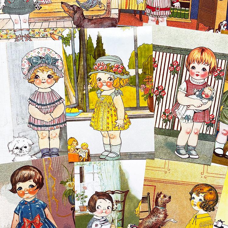 原创vintage复古相片dolly dingle胖多莉番茄汤娃娃玩游戏12张6寸