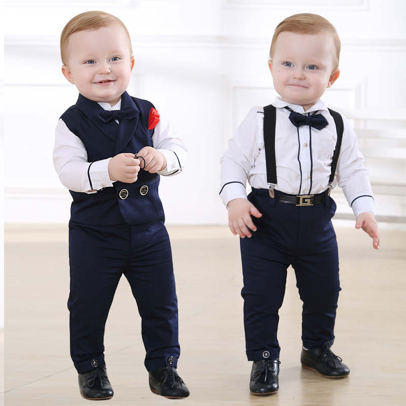 3ddc1dceb Baby boy baby age dress British style suit suit one-year-old suit ...
