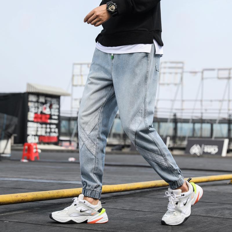 2019 quần jean mới nam mùa thu thủy triều thương hiệu quần lỏng nam Harlan quần nam kích thước lớn quần thun nam - Quần jean