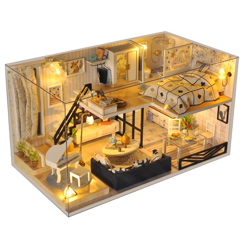 diy小屋阁楼别墅手工制作小房子模型拼装中国风创意生日礼物女生