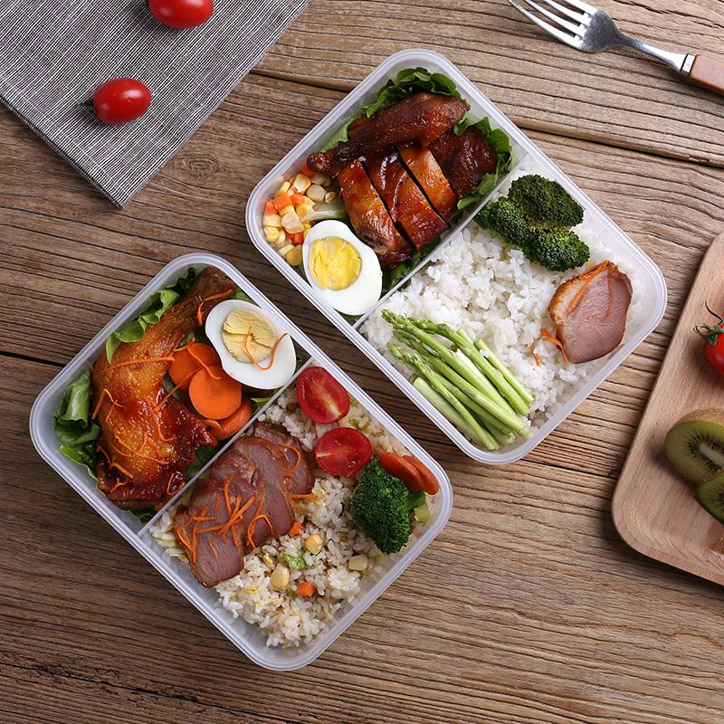 带饭盒便当盒分格分隔型成人大号塑料学生带盖食堂韩国简约微波炉