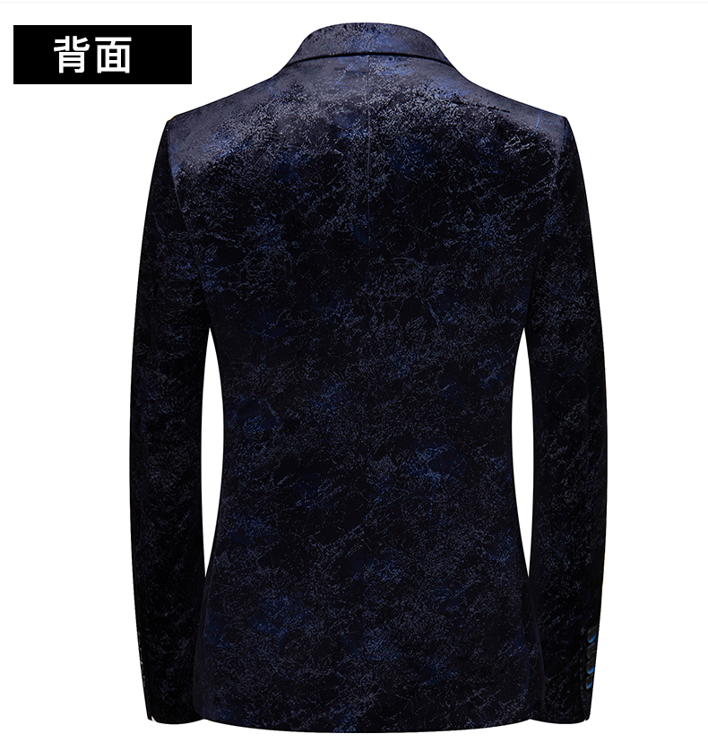 Autumn and winter gold velvet suit jacket male Korean version slim small suit British wind business casual single Western top tide 51 Online shopping Bangladesh