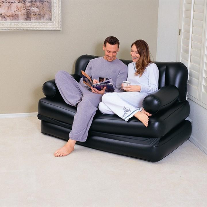 多功能简约现代折叠充气沙发床休闲家用户外斜躺椅懒人沙发双人