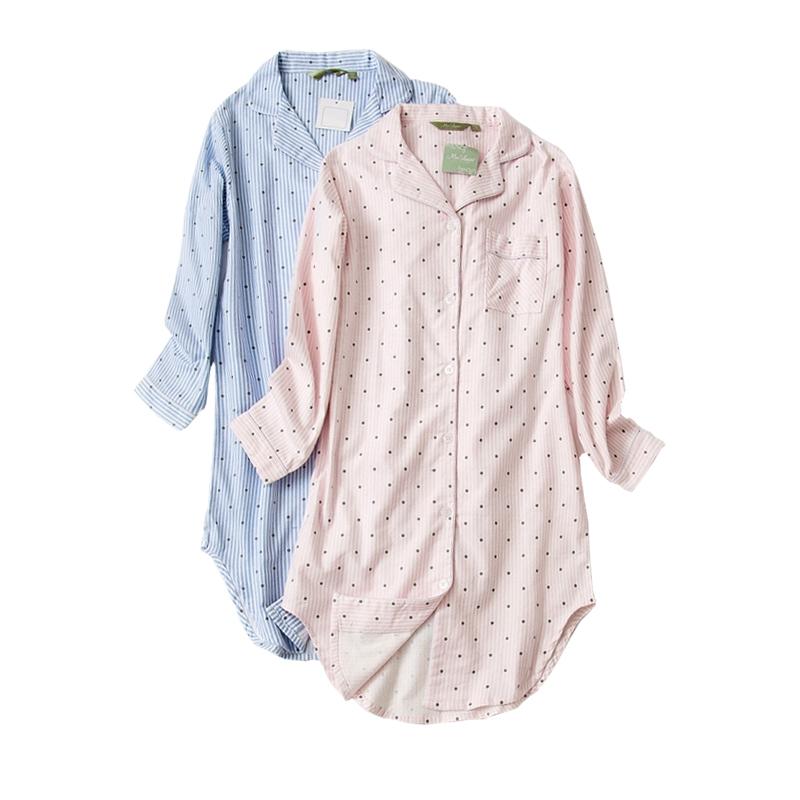 65512fecfd28 Japanese season sleeping skirt female long section autumn large size pajamas  female long-sleeved fresh pure Korean version of cotton velvet winter home  ...