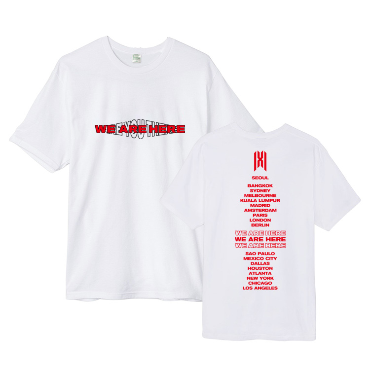 MONSTA X WE ARE HERE Concert T-shirt