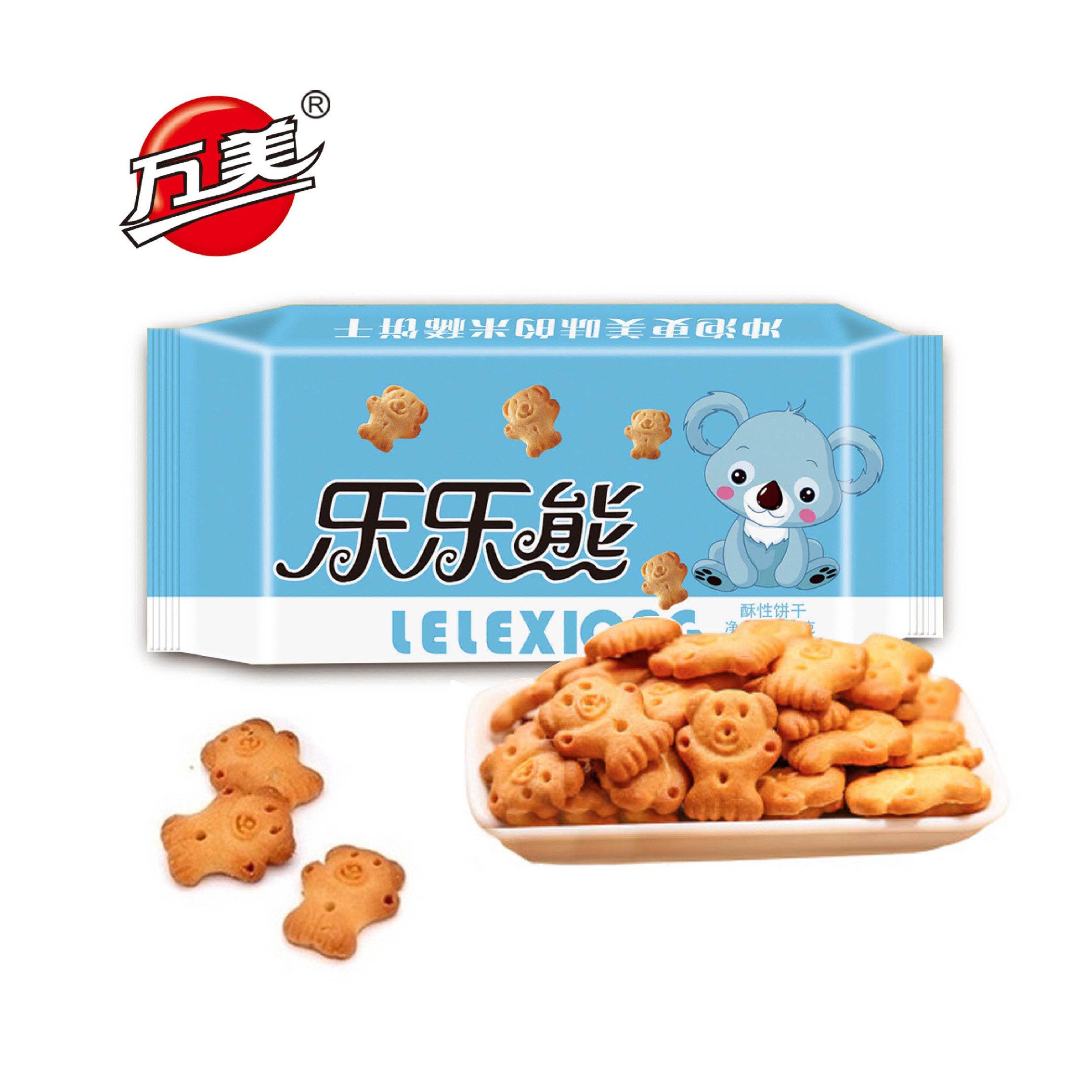 【万美】小熊米稀饼干500g