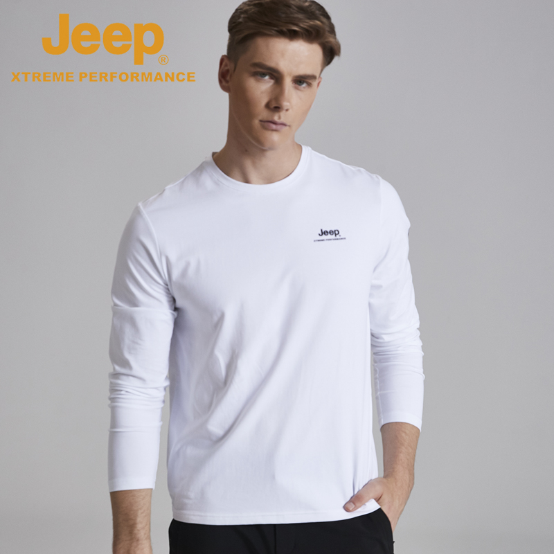 jeep flagship store official authentic Jeep spring and autumn section of long-sleeved T-shirt round neck shirt sports T-shirt men tide