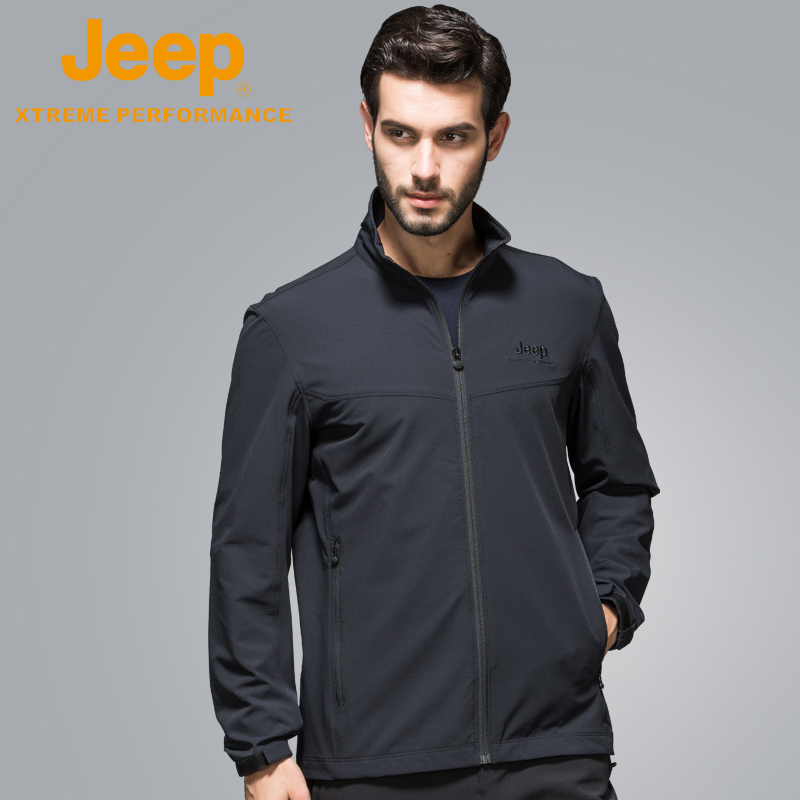 jeep flagship store official authentic Jeep autumn middle-aged casual spring and autumn men's jacket tide thin paragraph stand collar jacket