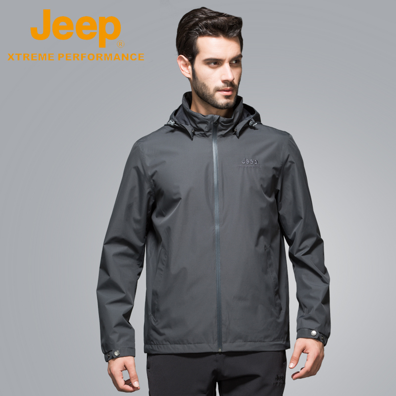 jeep flagship store official authentic Jeep men's casual double layer thin jacket autumn jacket Jacket Short Jacket Men's new