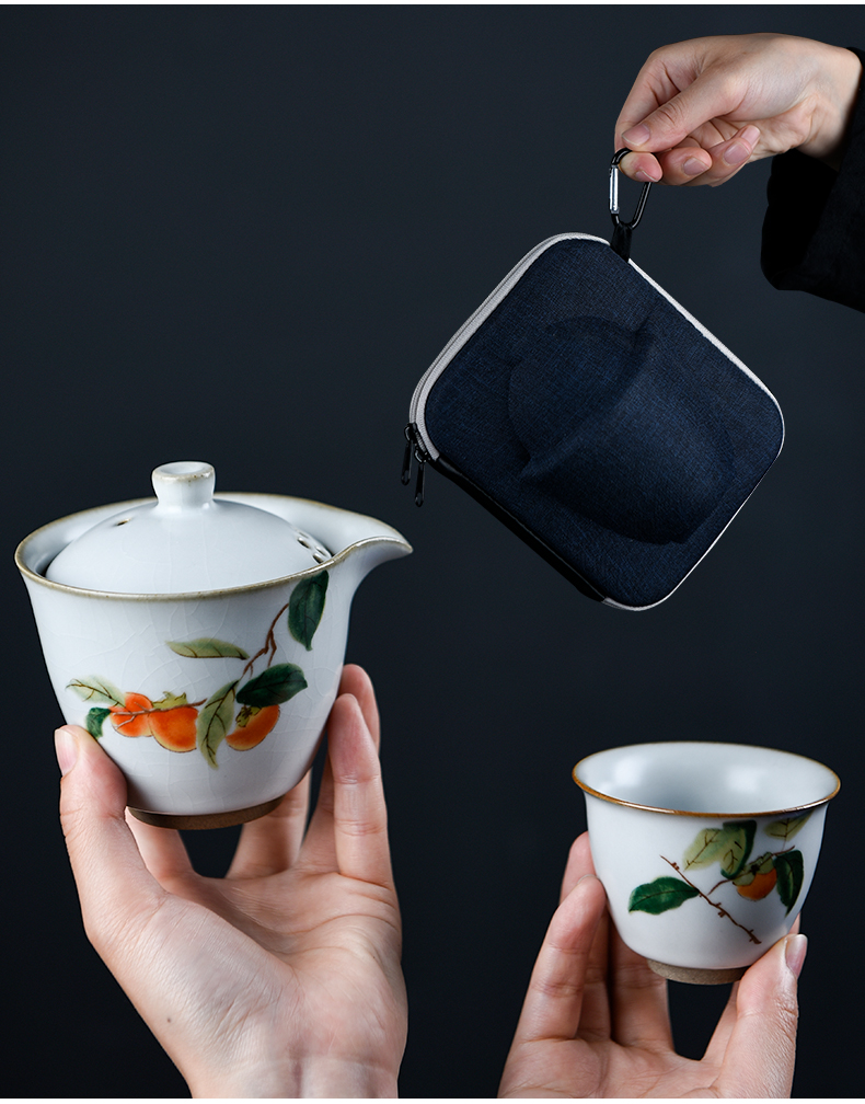 Crack cup your up ceramic story tureen a pot of two cups of is suing suit portable travel kung fu tea package