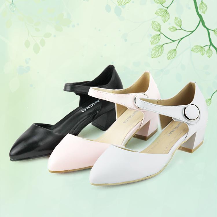 康奈正品凉鞋女士夏季新款真皮鞋休闲舒适坡跟中老年女凉鞋 64226