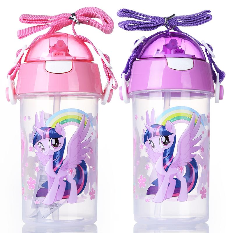 小马宝莉儿童学饮杯带吸管防摔幼儿园宝宝喝水杯子婴儿便携水壶