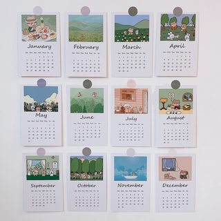 Girls heart screening rooms custom 2020 calendar card package sent to stand ins cartoon bedroom wall decorative painting