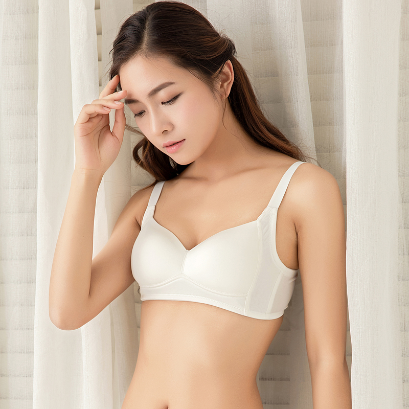 584ac34080 Japanese silk no steel ring ultra-thin bra big chest was small silk  underwear summer seamless student bra
