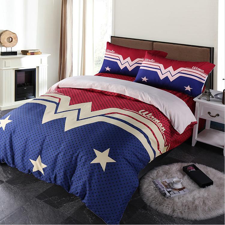 Wonder Woman Duvet Quilt Cover Bedding Set Twin Full Queen