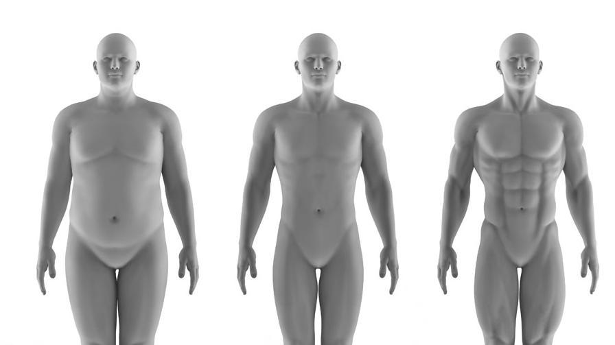 男生6大体型对照,以为的微胖其实是真胖