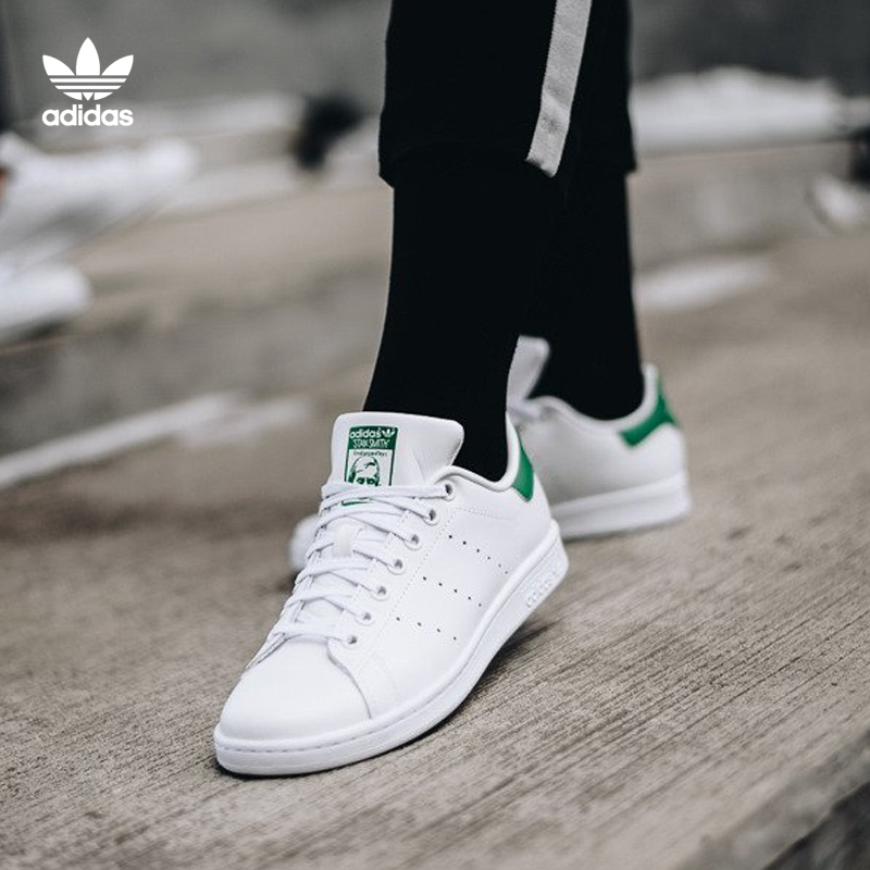 huge selection of af22f acfe9 Adidas women s shoes green tail stan smith men s shoes Smith white shoes  shoes clover casual shoes
