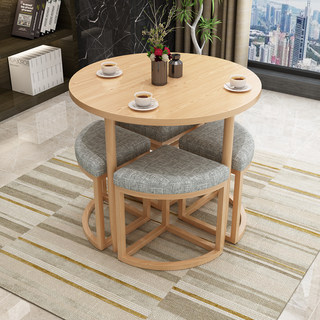 Simple meeting and negotiation table and chair combination sales office reception coffee milk tea shop casual small apartment compact small dining table