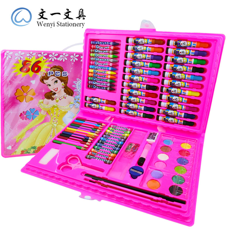 86pcs Pink + Coloring Book