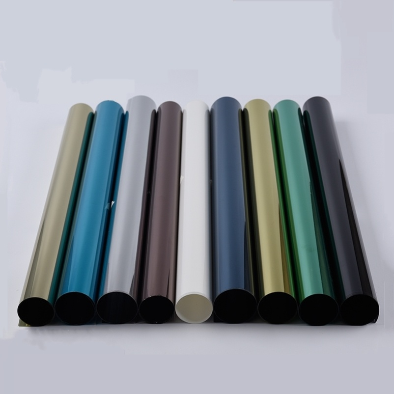 PET窗户不遮阳玻璃黑色防晒贴膜卧室贴纸遮光膜透光白色透光v窗户