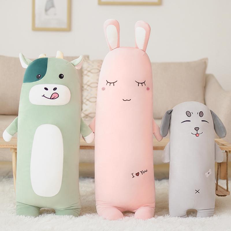 可爱毛绒玩具抱枕玩偶枕抱着陪你睡觉公仔长条床上超软布娃娃女生