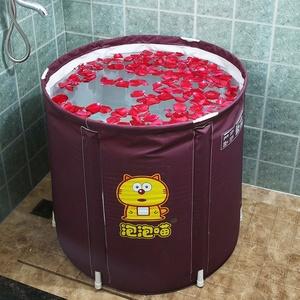 熊五泡澡桶大人折叠浴桶成人家用沐浴神器