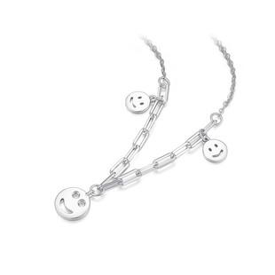 【周大生】S925笑脸小众设计锁骨链