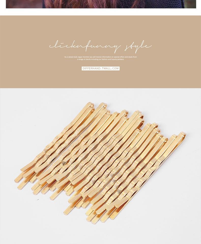 韩国网红发夹一字夹金色头发夹子ins少女心发卡后脑勺刘海夹边夹商品详情图