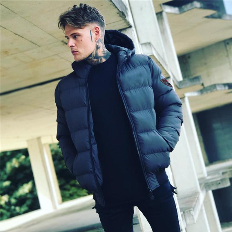 Cơ bắp anh em mùa thu đông 2018 mới áo khoác cotton thể thao ngắn dày áo khoác giản dị ngoài trời chạy bộ hàng đầu - Quần áo độn bông thể thao