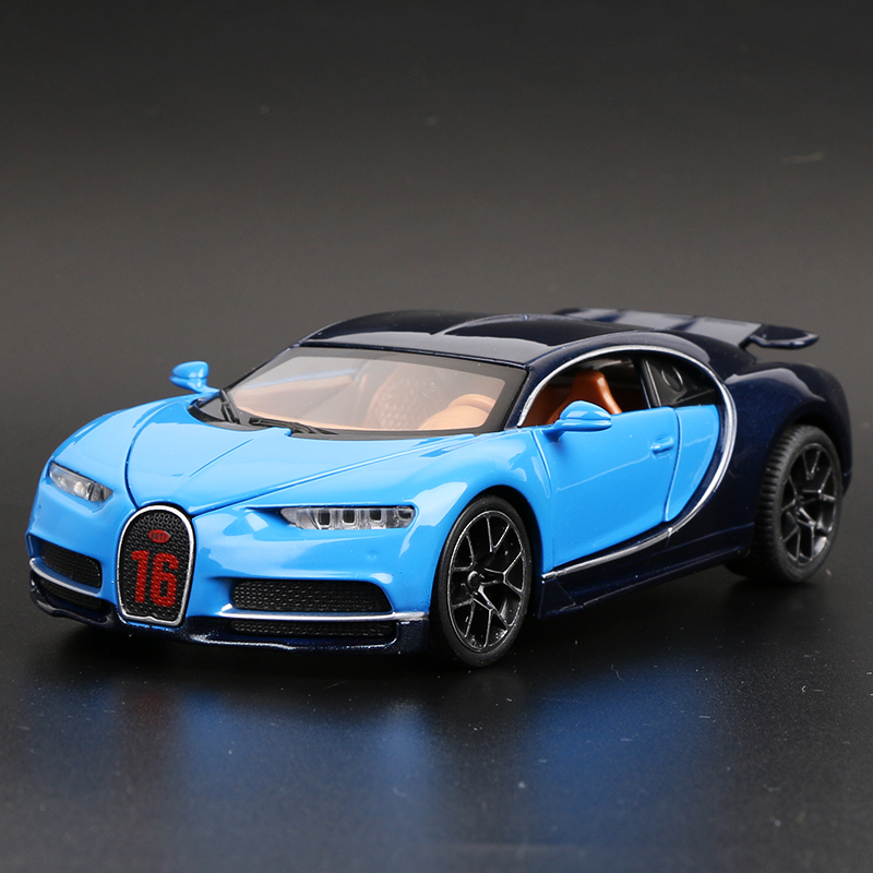 Bugatti Chiron Blue Outline Tail Can Be Raised And Lowered