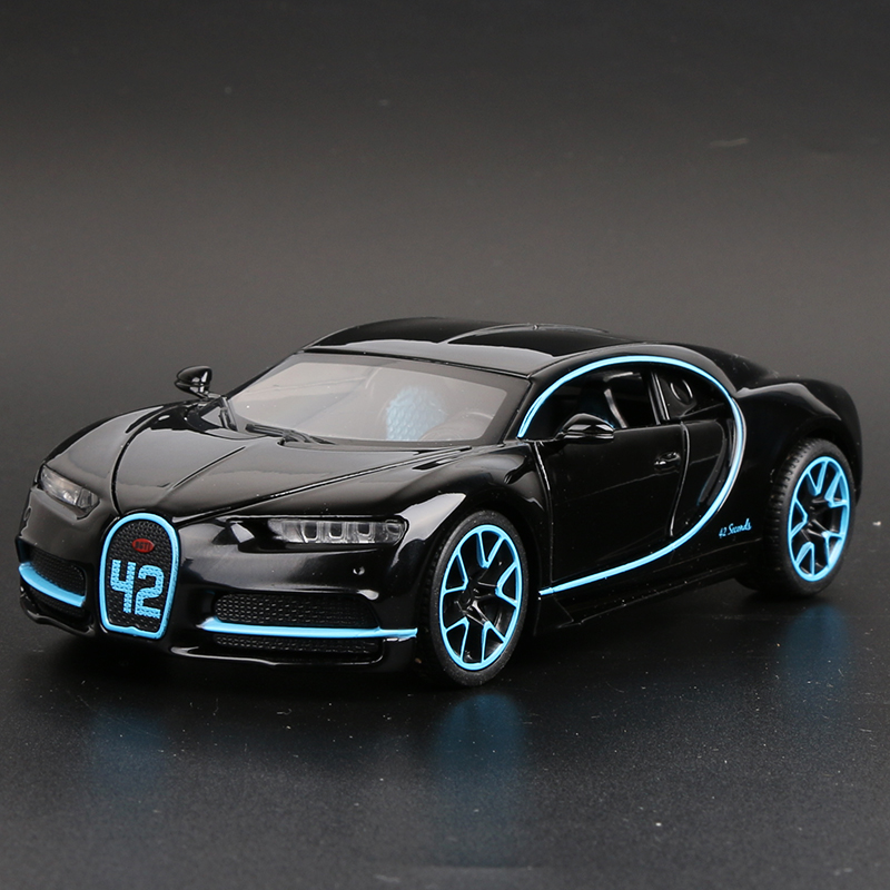 Bugatti Chiron Black Outline Tail Can Be Raised And Lowered