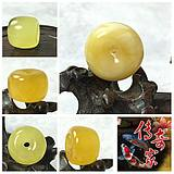 Baltic natural amber 14mm-21mm golden twisted beeswax full honey drum beads flat beads safe buckle DIY loose beads