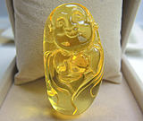 Zero-profit affiliation with amber and beeswax buddha statues legend of amber Polish natural amber carvings